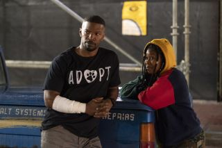 Jamie Foxx and Dominique Fishback in 'Project Power'.