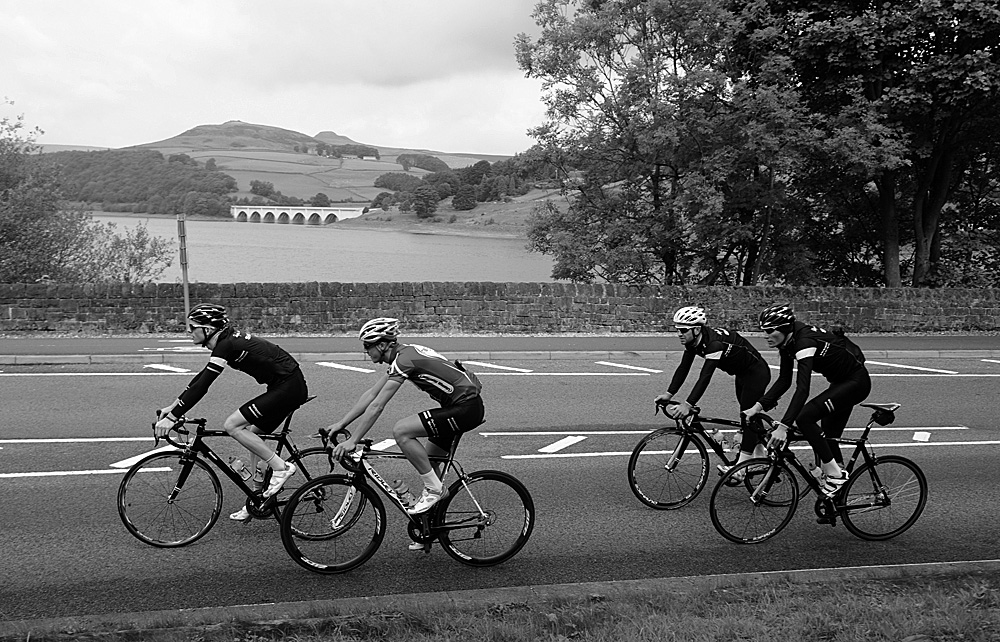 Ladybower, Rapha Condor Sharp training in Peak District, August 2011