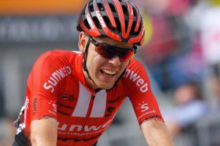 Chris Hamilton (Sunweb) finishes ninth on stage 17 of the 2019 Giro d'Italia