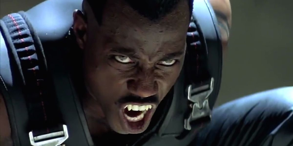 Wesley Snipes as an angry Blade