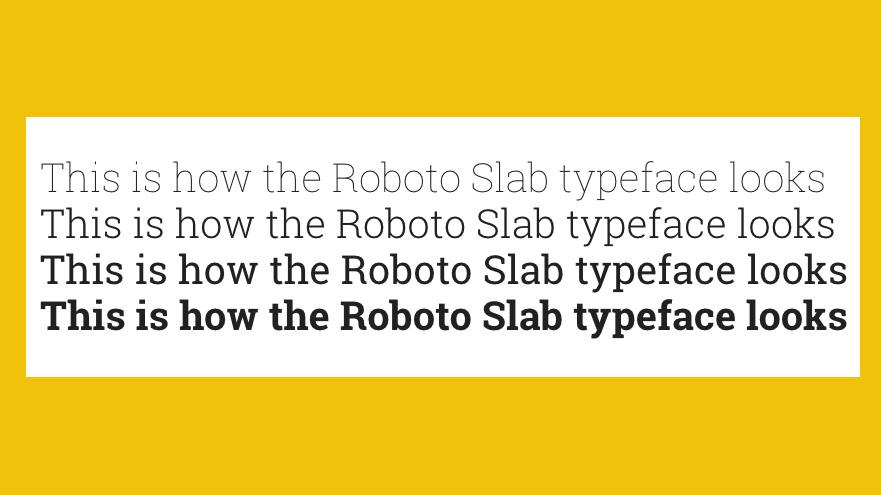 Free web fonts Roboto Slab
