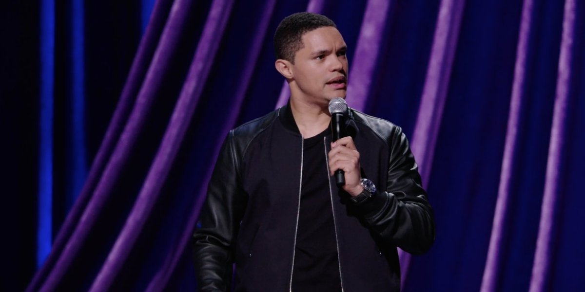 Trevor Noah in his Netflix stand-up comedy special Afraid of the Dark