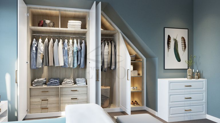 Marie Kondo tidying fail: bedroom with built in wardrobe perfect for optimising space by metro wardobes