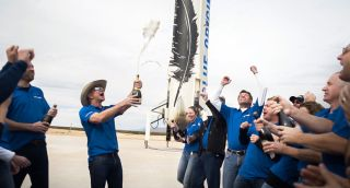 Blue Origin Team celebration