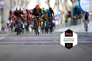 The sprint on stage 5 of the 2021 Giro d'Italia