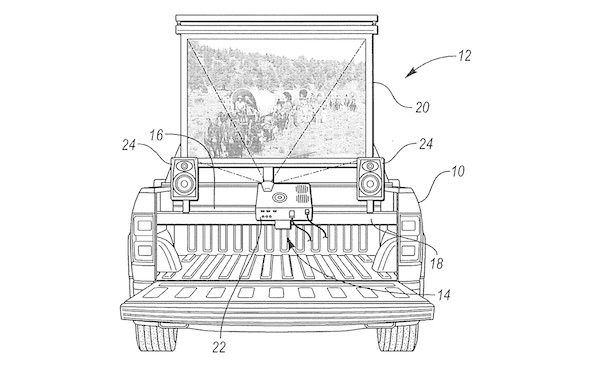 Ford pickup truck movie theater design patent