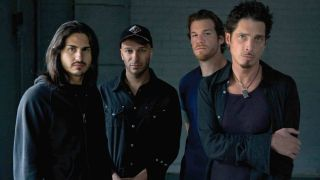 Tom Morello with Chris Cornell in Audioslave