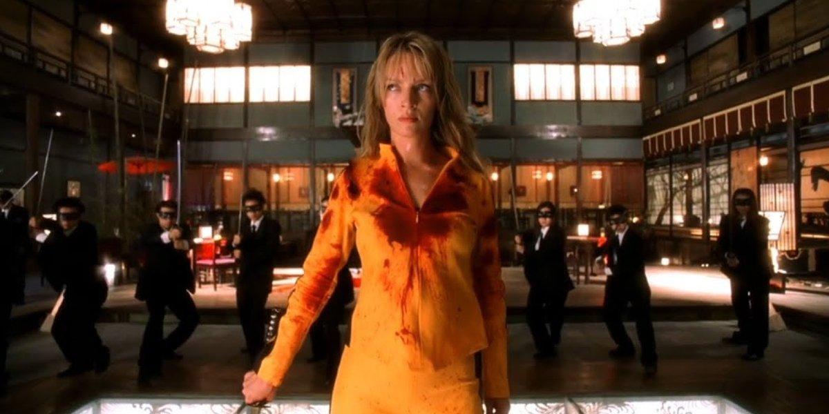 The Bride (Uma Thurman) preparing to take on The Crazy 88 in Kill Bill Vol. 1