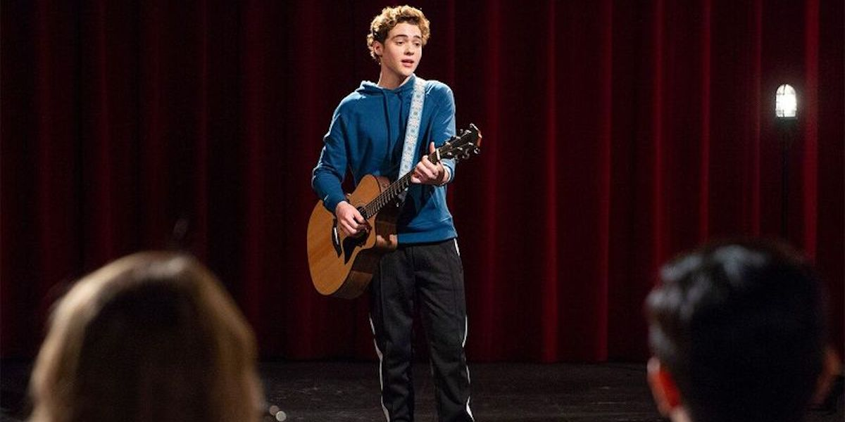 Joshua Bassett on his guitar singing I Think I Kinda, You Know in High School Musical series