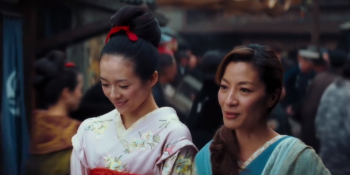 Zhang Ziyi and Michelle Yeoh in Memoirs of a Geisha