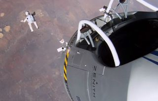 Felix Baumgartner Leaps from Red Bull Stratos Capsule
