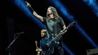 Foo Fighters onstage at Cal Jam 17 last month