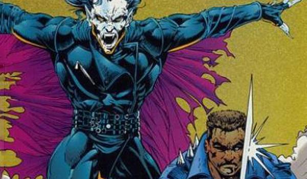 morbius bites blade in the comics