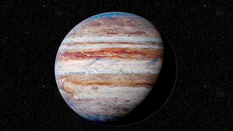 Illustration of Jupiter - stock illustration