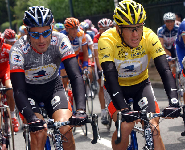 George Hincapie and Lance Armstrong, Tour de France 2003