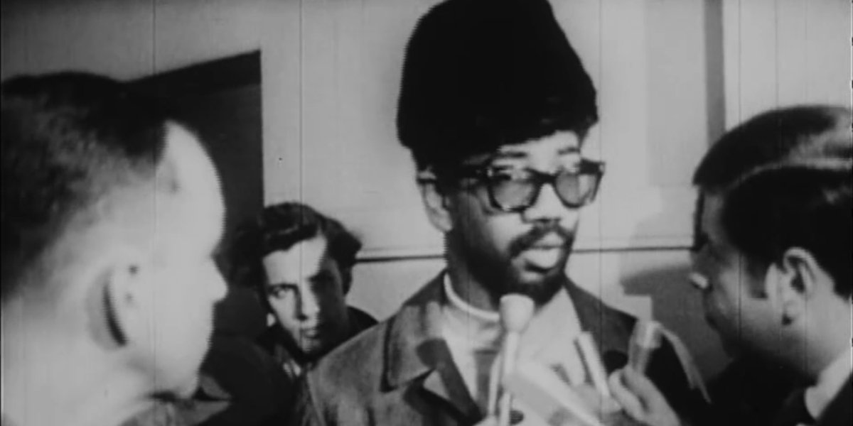 Black Panther Party member and future U.S. Congressman Bobby Rush in Death Of A Black Panther: Fred Hampton