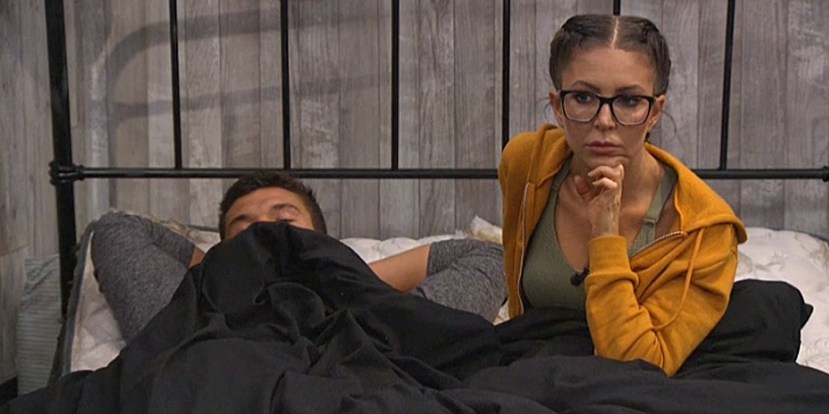 Big Brother Jackson and Holly in bed CBS