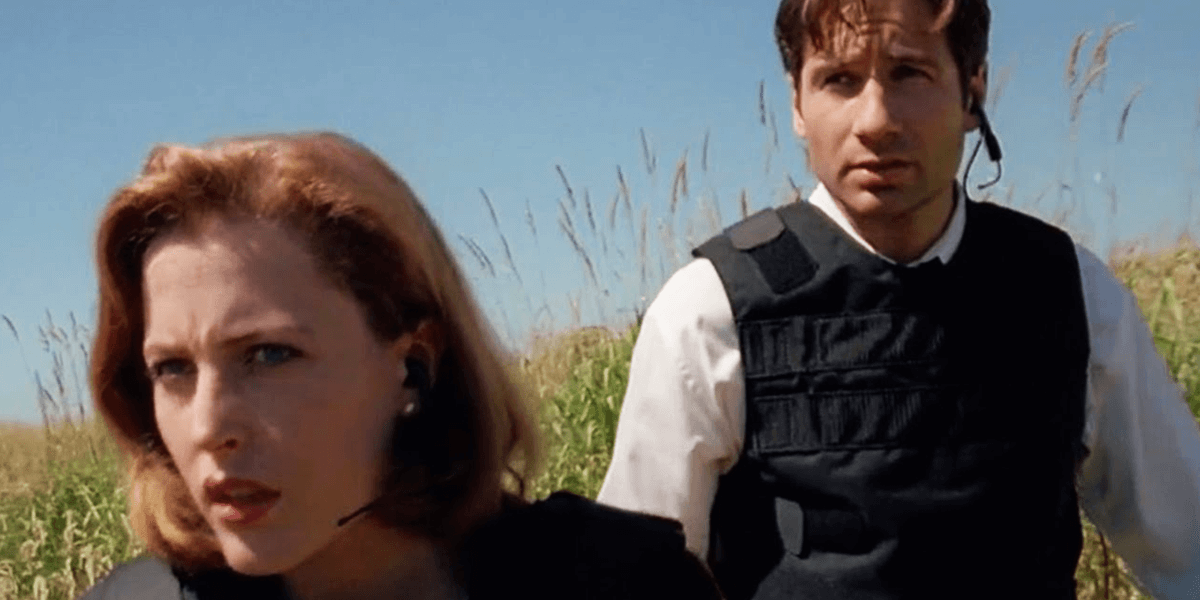 Mulder and Scully in the show, X-Files.