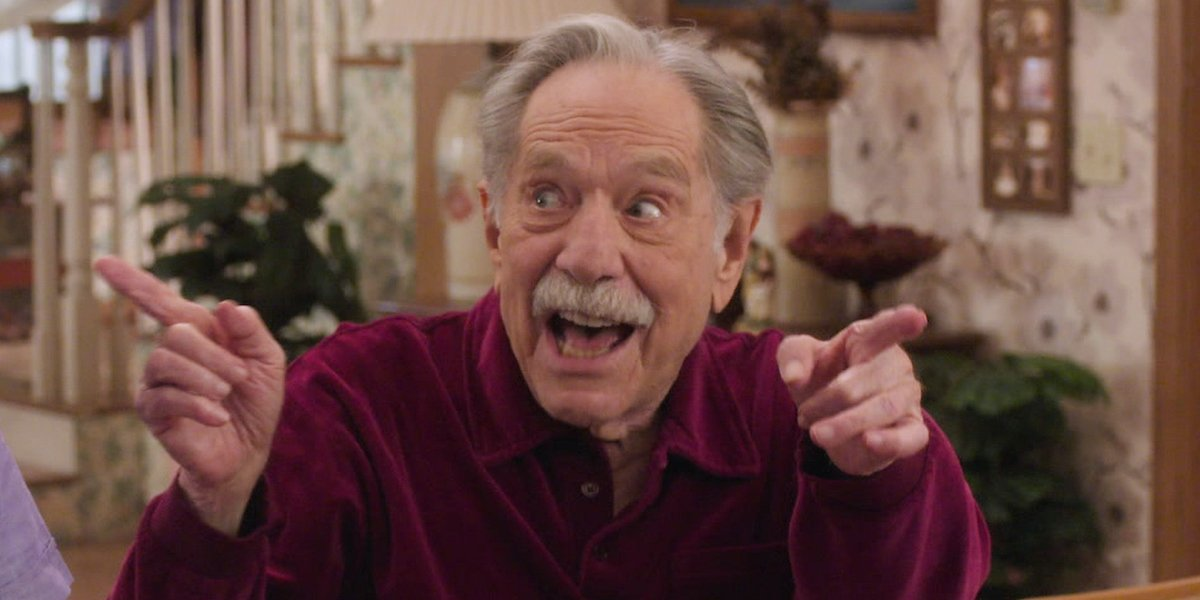 george segal as grandfather in final episode of the goldbergs