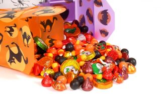 halloween buckets and candy