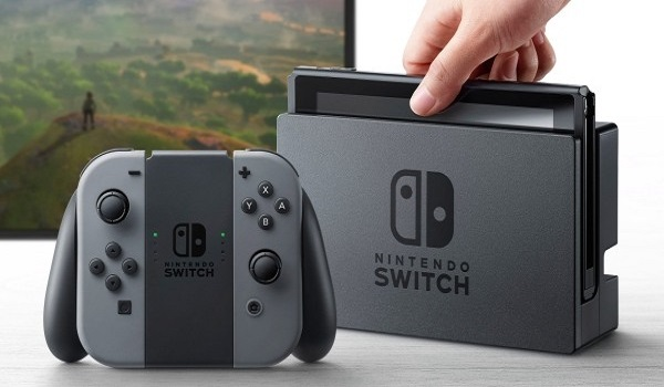 The nintendo switch console