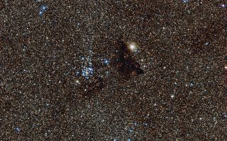 Star Cluster NGC 6520 and Dark Cloud Barnard 86 1920