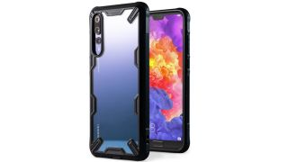 Front and back views of the Ringke Fusion-X Transparent case for Huawei P20 Pro