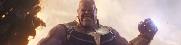 Thanos pulling a moon out of the sky in Avengers Infinity War