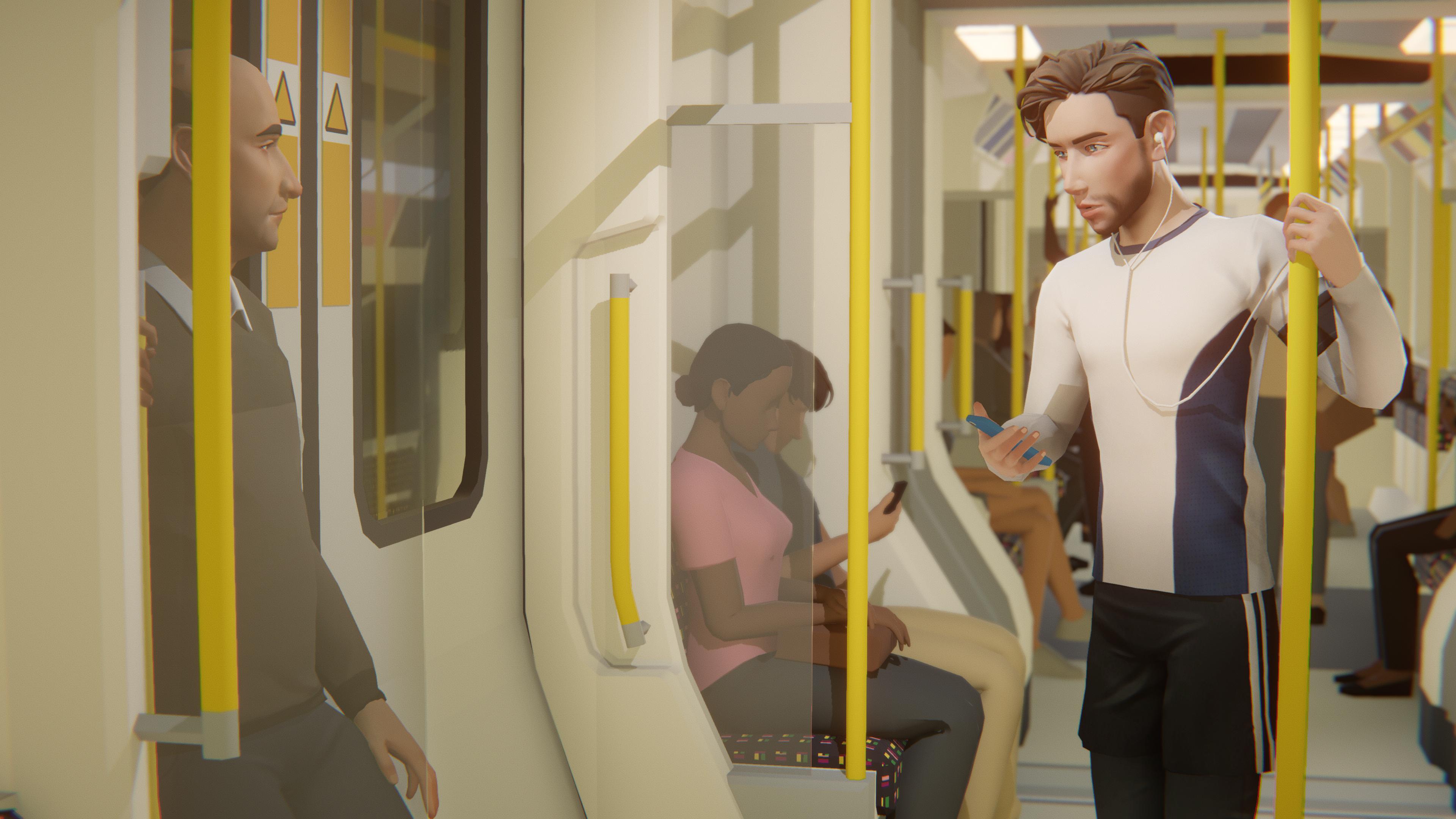 Двое мужчин в метро