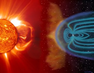 Earth's magnetic field protects us from the solar wind, guiding the solar particles to the polar regions.