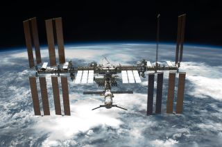 International Space Station After Endeavour Undocks