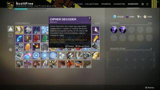 Destiny 2 Cipher Decoders
