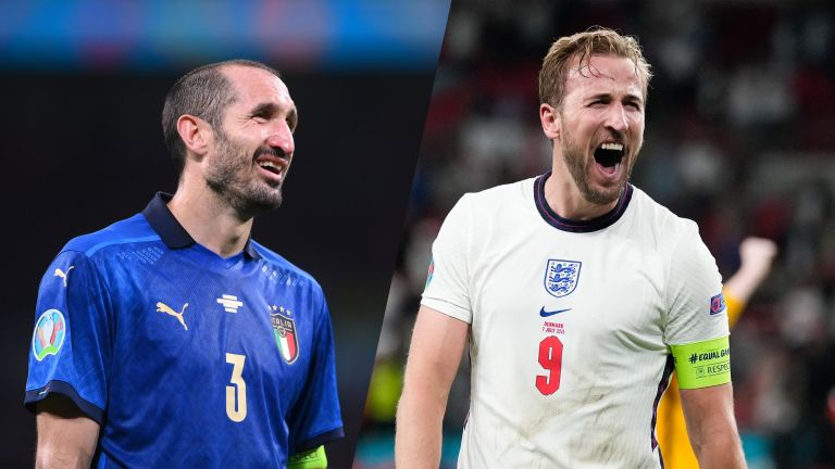 Euro 2020 final: Giorgio Chiellini and Harry Kane, football captains for Italy vs England