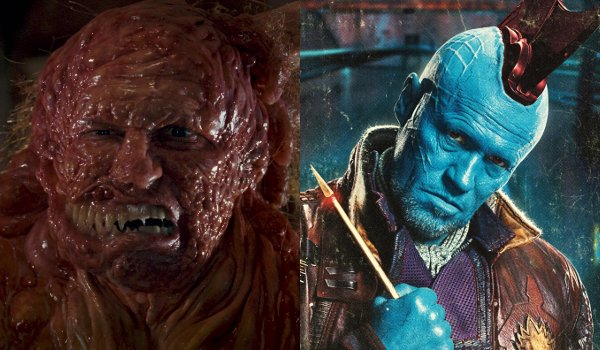 Michael Rooker as a monster in Slither and as Yondu in Guardians of the Galaxy