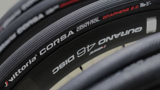Vittoria's flagship Corsa tyre uses second-generation graphene to increase speed, grip and puncture resistance