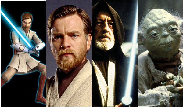 obi wan on the clone wars ewan mcgregor alec guinness yoda