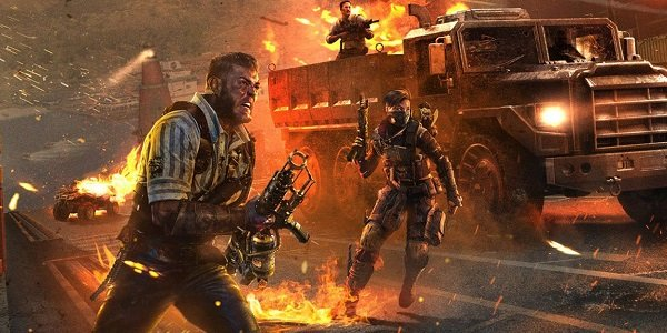 Soldiers charge into battle in Black Ops 4.