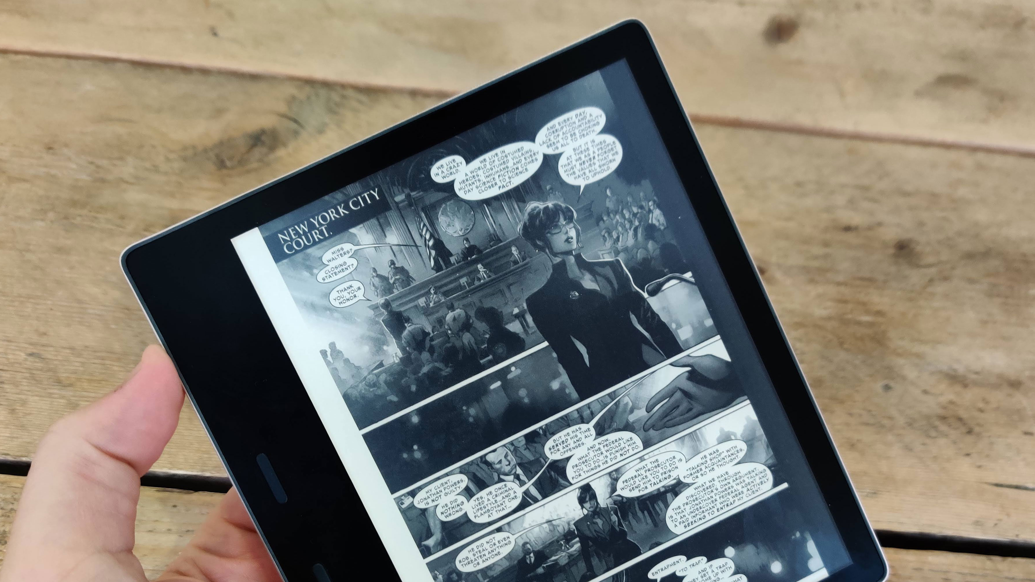 A foldable Kindle would be a better fit for comics
