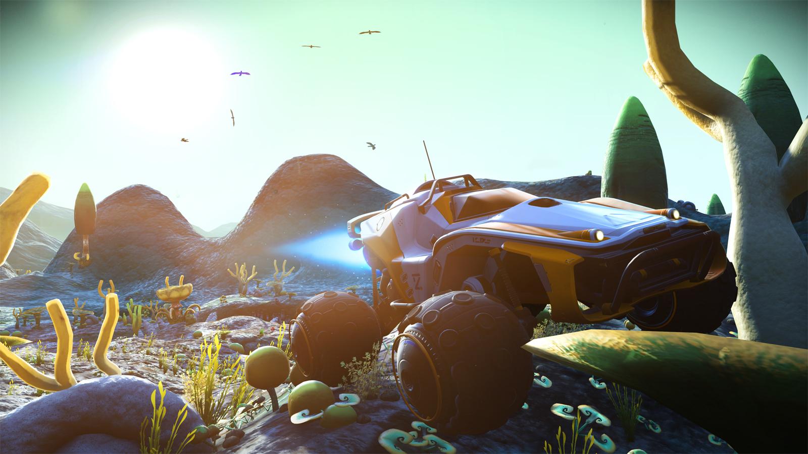No Man S Sky Path Finder Update Adds Planetside Transport 4k Hdr