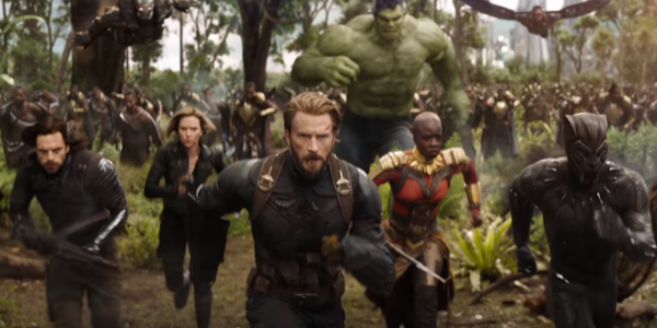 Avengers: Infinity War Captain America's Avengers charge the enemy