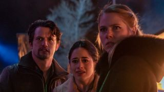 From left: Nathan Dean as Max, Jeanine Mason as Liz and Lily Cowles as Isobel in The CW's 'Roswell, New Mexico'