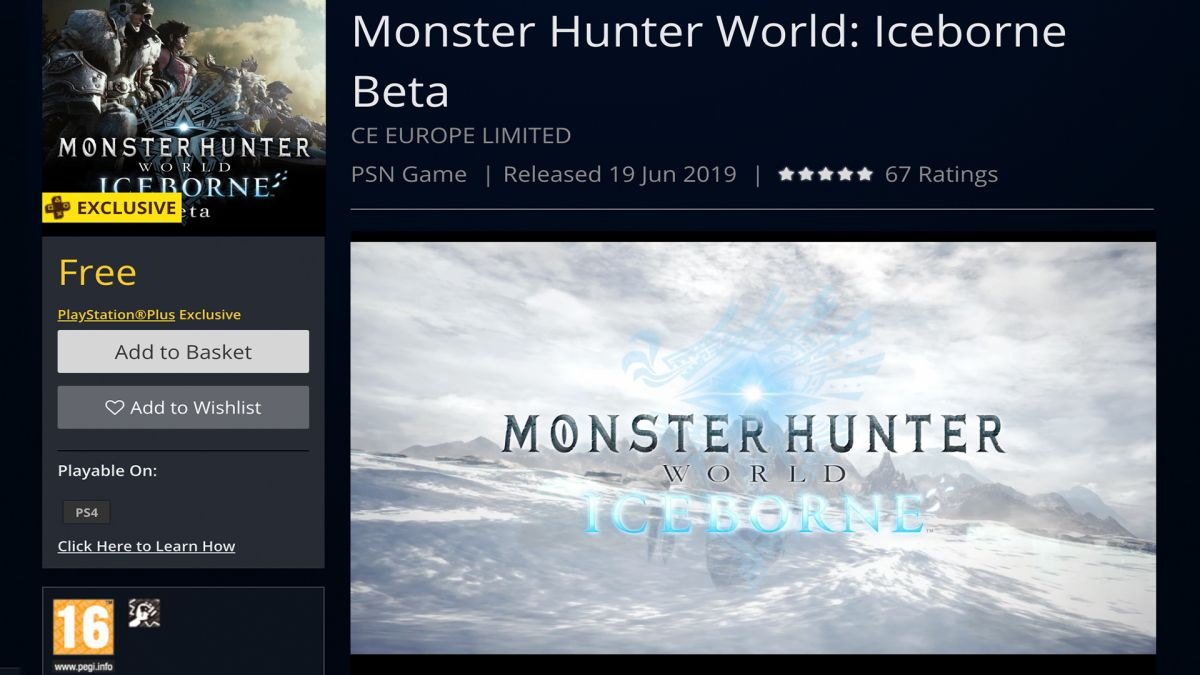 How to download the Monster Hunter World Iceborne beta on PS4