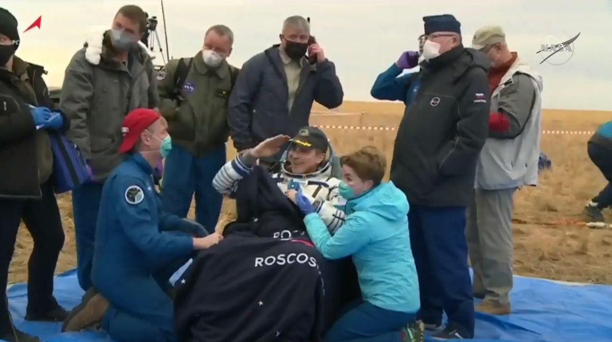 Soyuz crew lands from space station ahead of ISS 20-year milestone