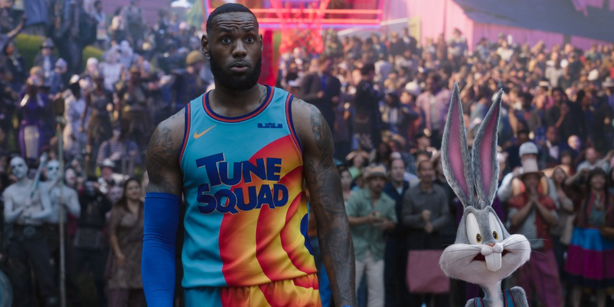 LeBron James and Bugs Bunny in Space Jam: A New Legacy