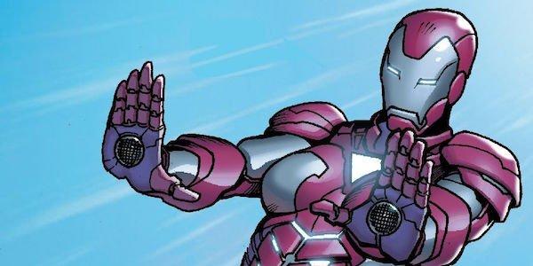Pepper Potts in Rescue armor in Marvel Comics