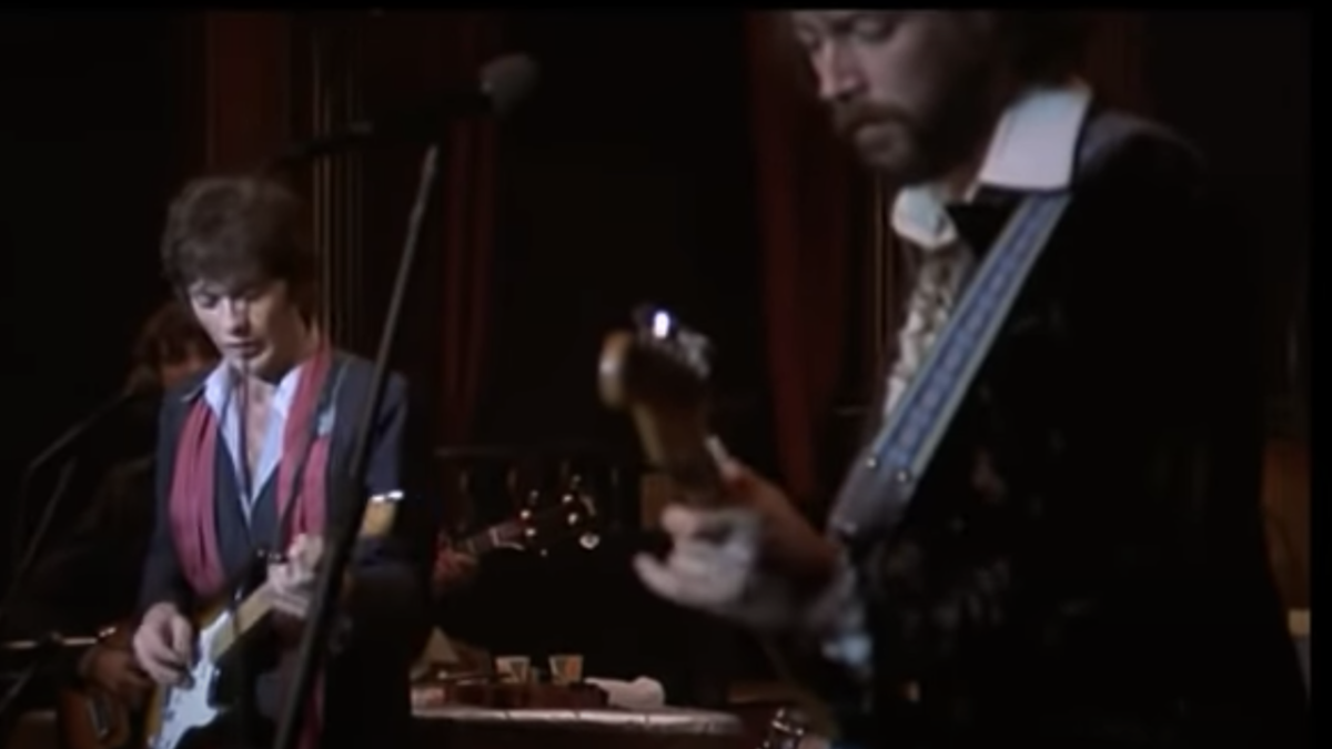 Watch Robbie Robertson and Eric Clapton's infamous 'guitar duel'