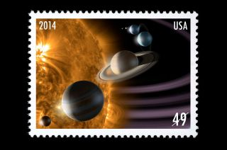 Fictional Solar System Stamp