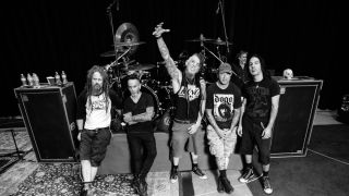 Hellyeah's touring lineup from left: Kyle Sanders, Roy Mayorga, Chad Gray, Tom Maxwell, Christian Brady