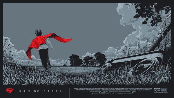 Man of Steel Ken Taylor Mondo variant poster