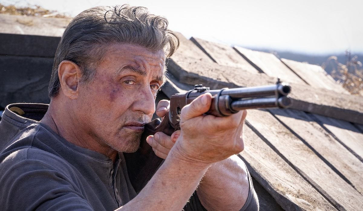 Rambo with a rifle in Last Blood